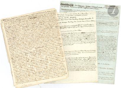 Joseph de CAMBIS. 7 manuscrits autographes,...