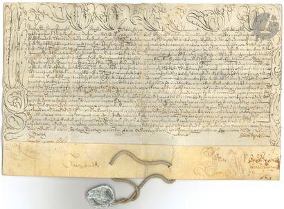 BULLES PAPALES. 2 bulles manuscrites, Rome...