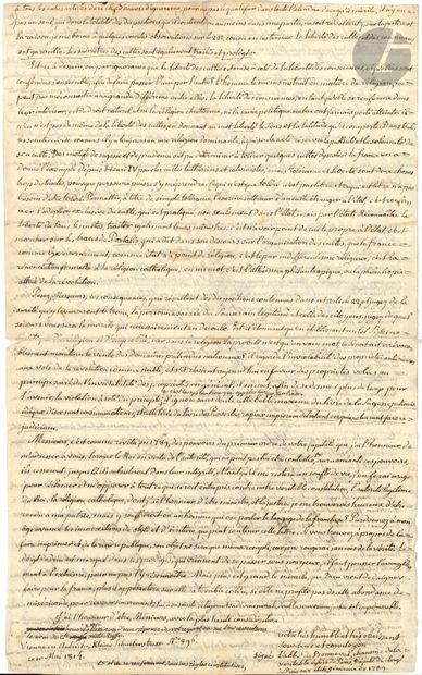 Sixte-Ruffo de BONNEVAL (1742-1820) abbé...