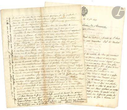 Désiré ORDINAIRE (1773-1847) médecin et agronome,...