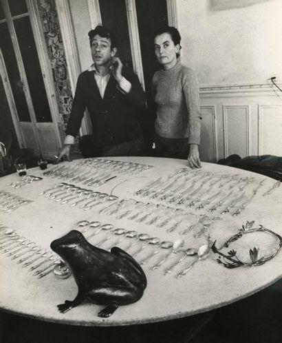 Etienne Hubert (1932) Le couple d'artistes...