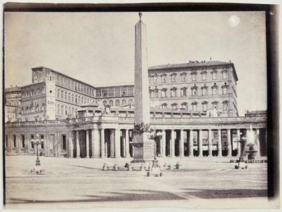 Photographe non identifié Rome, c. 1859. Place Saint-Pierre. Colonnade. Colisée....