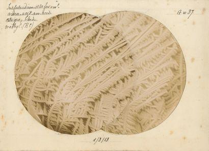 L. Poivet Microphotographie de cristaux,...