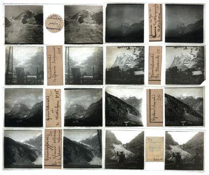 Photographe non identifié Alpes suisses, c. 1890-1900. La Jungfrau. Le lever du...