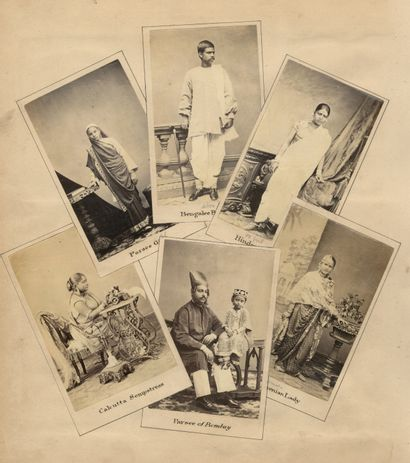 Studio non identifé Portraits indiens, c....