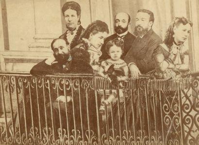 Henri Sauvaire (1831-1896) Photomontage, famille Sauvaire. Mme Sauvaire, c. 1870....