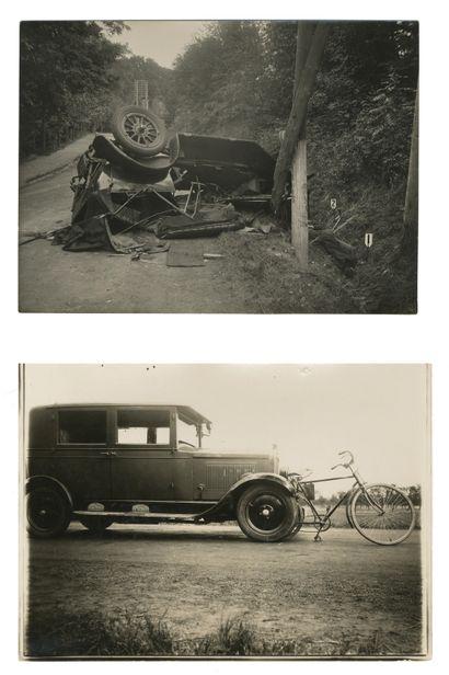 Photographe non identifié Accidents de voitures,...