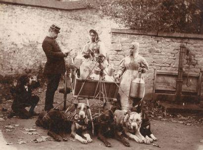 Armand Dandoy (1834-1898) Laitière dans une...