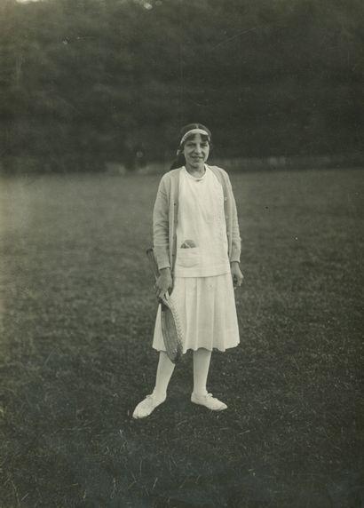 Charles Delius (1877-1962) Suzanne Lenglen,...