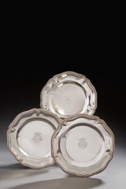 PARIS 1727 - 1728 Paire de petits plats...