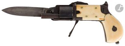 Rare étonnant couteau révolver de poche «...