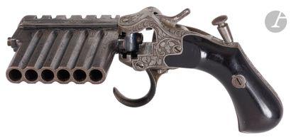 Pistolet à système « Jarre », à broche, du  1er TYPE DIT « PISTOLET HARMONICA »,...