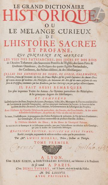 Louis MORÉRI  Le Grand dictionnaire historique ou Le Mélange curieux de l'Histoire...