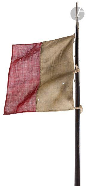 Lance de cavalerie modèle 1823.  Pointe à fer triangulaire à deux longues attelles...