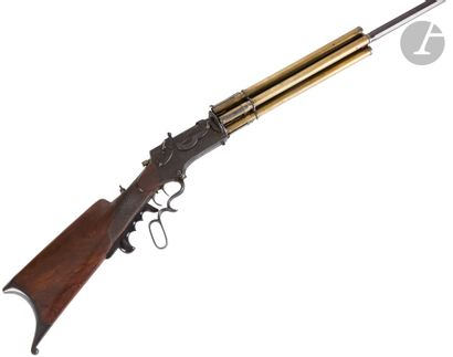Étonnante et rare carabine revolver de tir...