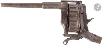 Rare revolver d'embarcation, 20 coups, à...