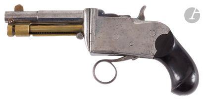 "Rare repeating pistol with system ""Marius Berger"", calibre 8 mm Berger.  Round barrel..."
