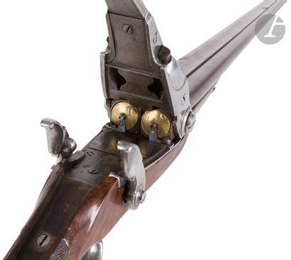 Fusil de chasse double à percussion système...