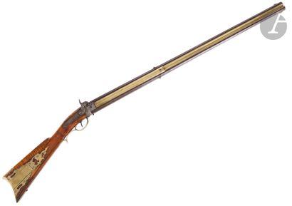 Fusil de chasse à percussion des Plaines...