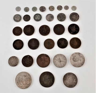 LOT de 32 monnaies, principalement du XIXe...