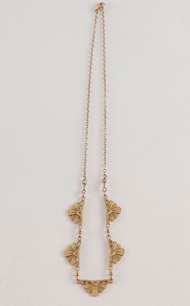 Collier draperie en or (18K) à motifs de...