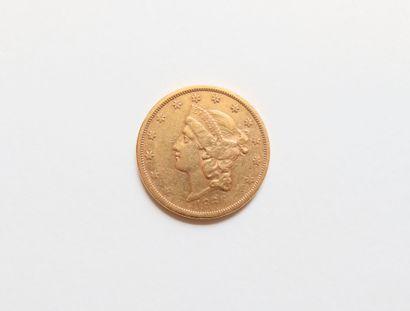 1 Pièce de 20 Dollars en or. Type Liberty....