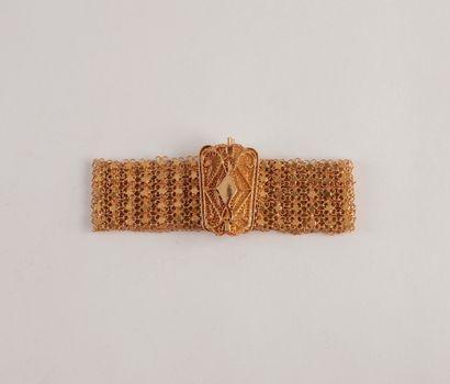 Large bracelet en or (22K) filigrané Poids 41.87g