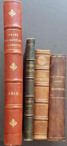 [TEXTILE] 4 ouvrages anciens sur les matières...