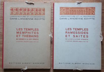 [ARCHÉOLOGIE - ÉGYPTOLOGIE] 2 portfolios. *L'architecture et la décoration dans...