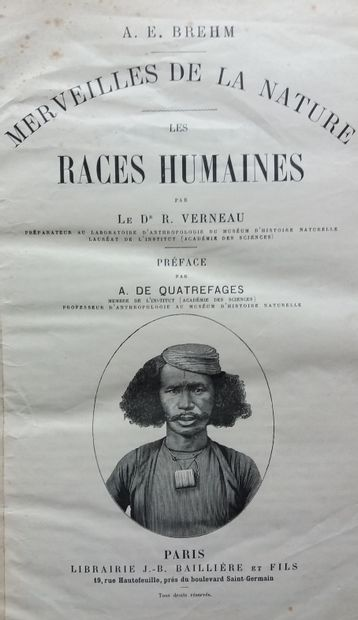 [ETHNOLOGIE] 2 ouvrages. *Les Races Humaines....