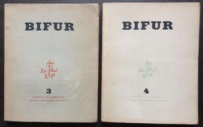 [ART - BIFUR] 2 ouvrages. *BIFUR n°3 Éditions du Carrefour, 1929. 192 pp. Textes...