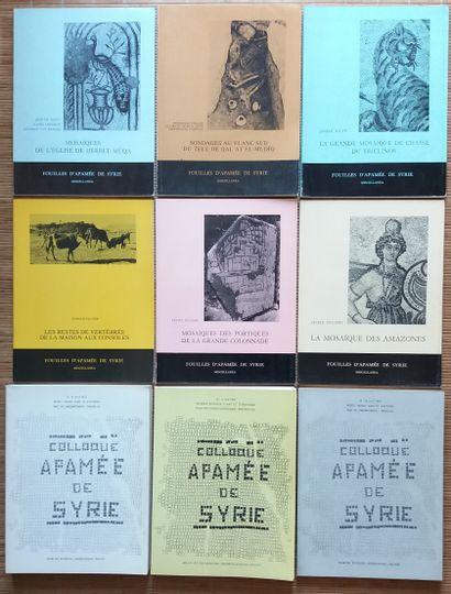 [ARCHÉOLOGIE - SYRIE] 9 ouvrages sur Apamée...