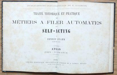 [TEXTILE] 1 ouvrage ancien. *Traité Théorique...