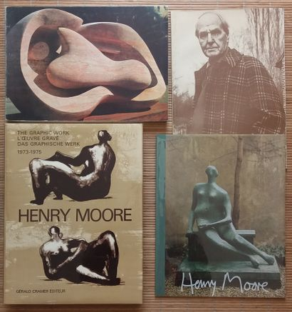 [ART - MOORE, HENRY] 4 ouvrages. *Henry Moore....