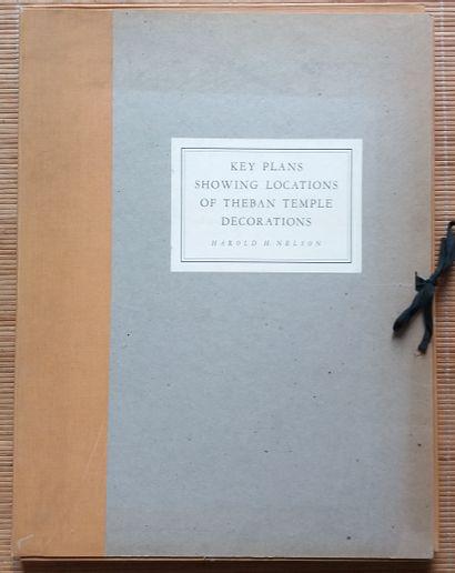 [ARCHÉOLOGIE - ÉGYPTOLOGIE] 1 portfolio. *Key Plans Showing Locations of Theban...