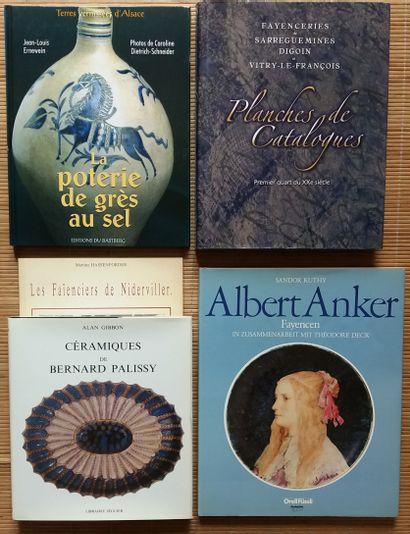[FAÏENCE, CÉRAMIQUE ET VERRE] 7 ouvrages....
