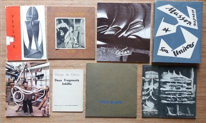 [ART] 8 catalogues ou fascicules divers *Giorgio...