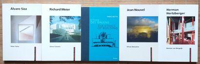 [ARCHITECTURE - MONOGRAPHIES] 5 ouvrages monographiques d'architectes *Alvaro Siza....