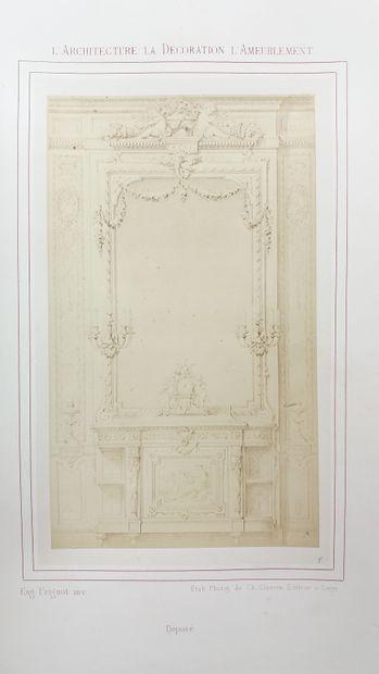 [ARCHITECTURE, DÉCORATION & AMEUBLEMENT] 1 ouvrage ancien. *L'Architecture, la Décoration...