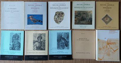 [ARCHÉOLOGIE - MOSAÏQUES] Ensemble de 10 ouvrages. *Recueil Général des Mosaïques...