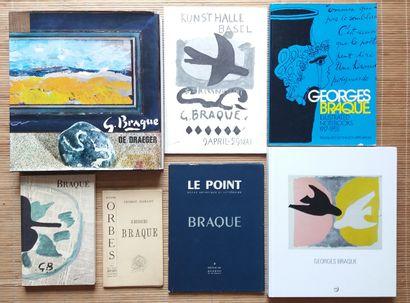 [ART - BRAQUE, GEORGES] 7 ouvrages. *G. Braque De Draegger. Draeger Editeur, 1971....