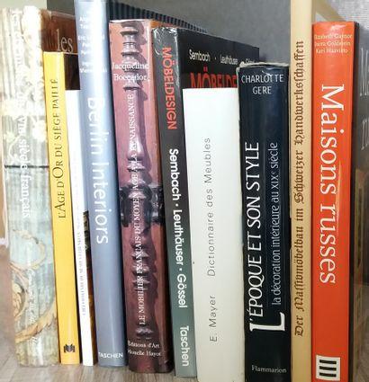[MOBILIER] Ensemble de 10 ouvrages sur le...