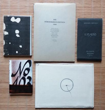 [ART - LIVRES D'ARTISTES] 5 livres d'artistes...