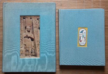 [ARCHÉOLOGIE - ÉGYPTOLOGIE] 2 ouvrages. *Le Petit Temple d'Abou Simbel. Par Desroches-Noblecourt,...