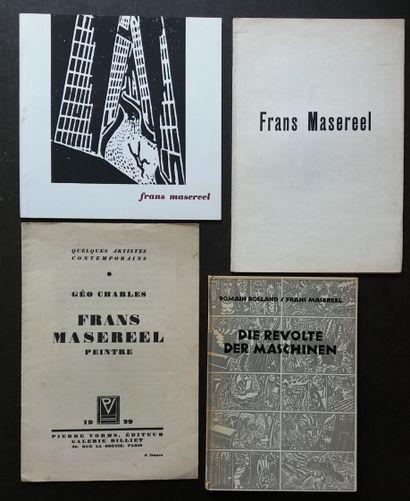 [ART - MASEREEL, FRANS] Ensemble de 4 ouvrages...