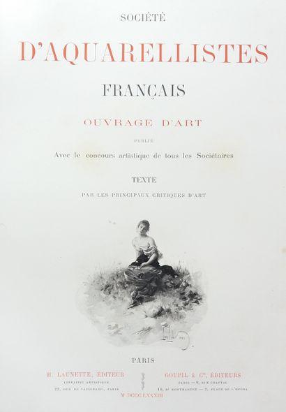 [AQUARELLES] 1 ouvrage en 2 tomes. *Société d'aquarellistes français. Ouvrage d'Art...