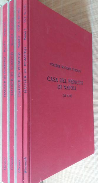 [ARCHÉOLOGIE - POMPÉI] 9 ouvrages, en allemand....