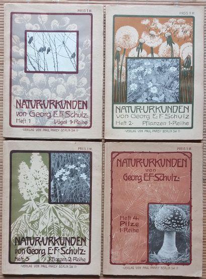 [NATURE] 4 ouvrages en allemand. *Natur-Urkunden....