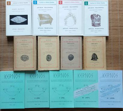 [ARCHÉOLOGIE - GRECE] 13 ouvrages. *Manuel...