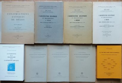 [ARCHITECTURE - GRECE] Ensemble de 4 ouvrages sur l'architecture helleniste et 5...